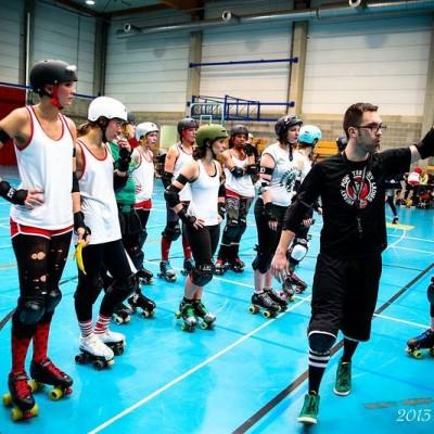 Female team Belgium Roller Derby's coaching team - Freaky Mons'ter Derby Ladies | Roller derby Mons