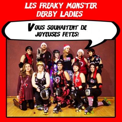 Bonnes fêtes - Freaky Mons'ter Derby Ladies | Roller derby Mons